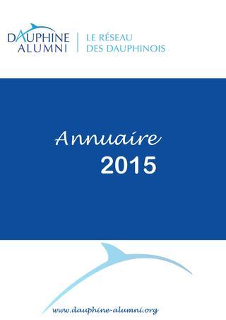2015 / DAUPHINE Alumni / Annuaire