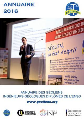 2016 / ENSG / Annuaire des Ingénieurs