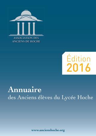 2016 / Lycée Hoche Versailles / Annuaire