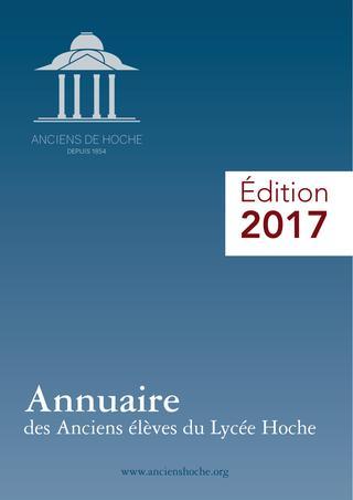 2017 / Lycée Hoche Versailles / Annuaire